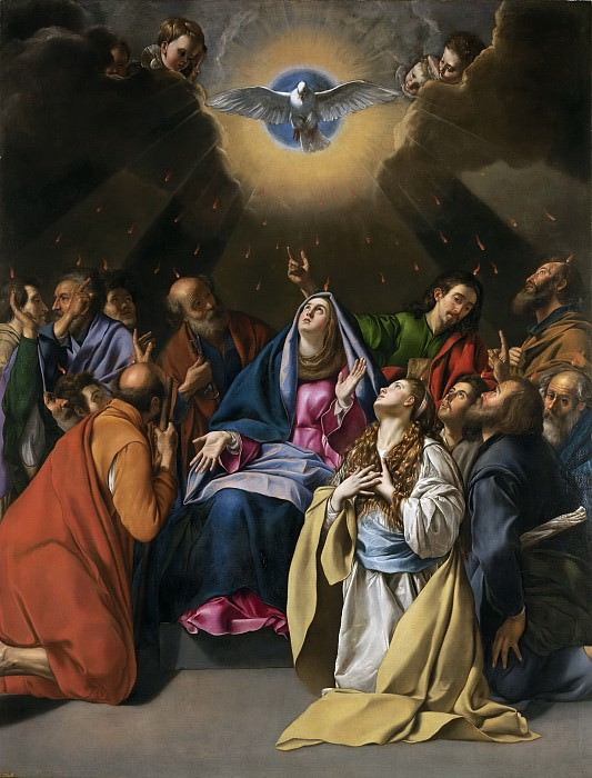 Maíno, Fray Juan Bautista -- Pentecostés. Part 1 Prado museum