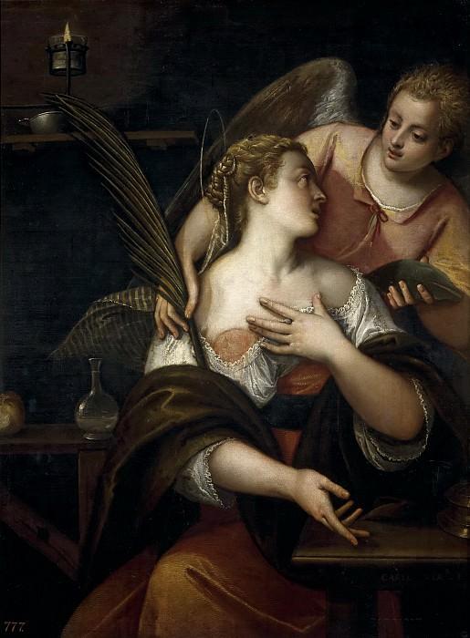 Veronese, Carletto -- Santa Águeda. Part 1 Prado museum