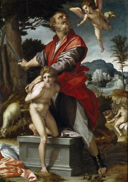 Sarto, Andrea del -- El sacrificio de Isaac. Part 1 Prado museum