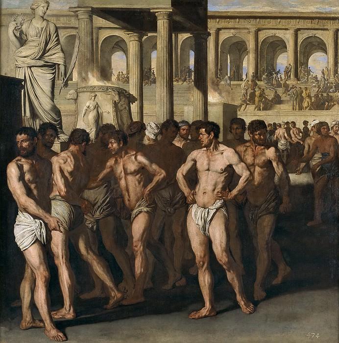 Falcone, Aniello -- Gladiadores. Part 1 Prado museum
