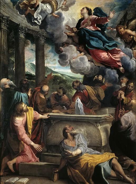 Carracci, Annibale -- La Asunción de la Virgen. Part 1 Prado museum