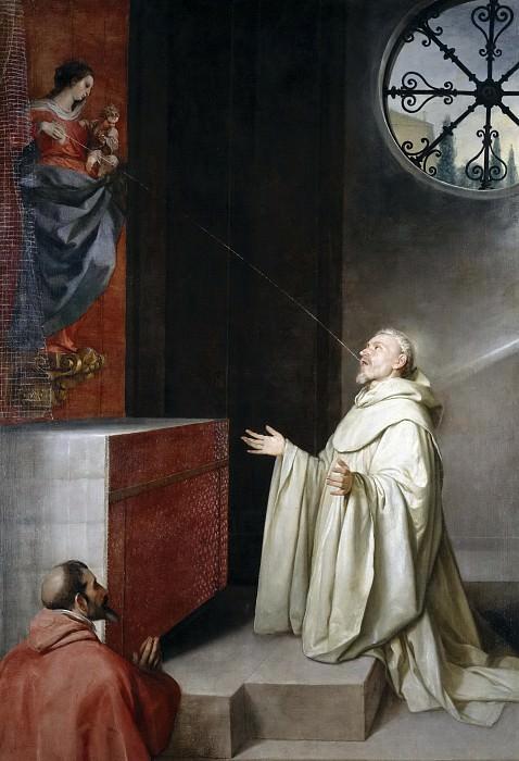 Cano, Alonso -- San Bernardo y la Virgen. Part 1 Prado museum