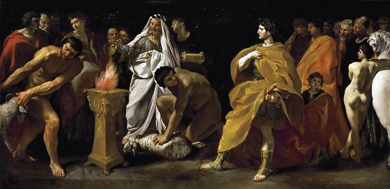 Ланфранко, Джованни ди Стефано -- Торжественное жертвоприношение римского императора. Часть 1 Музей Прадо