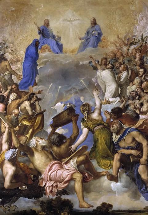 Tiziano, Vecellio di Gregorio -- La Gloria. Part 1 Prado museum
