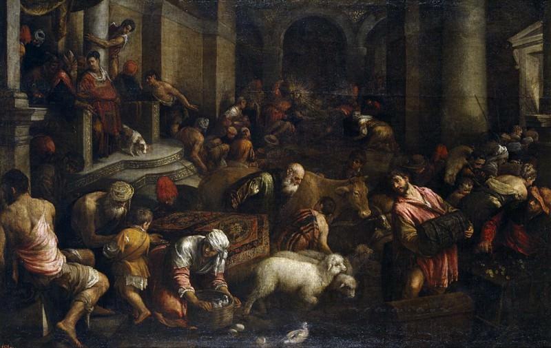 Bassano, Jacopo -- Expulsión de los mercaderes del Templo. Part 1 Prado museum