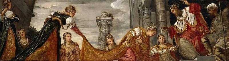 Tintoretto, Jacopo Robusti -- Ester ante Asuero. Part 1 Prado museum