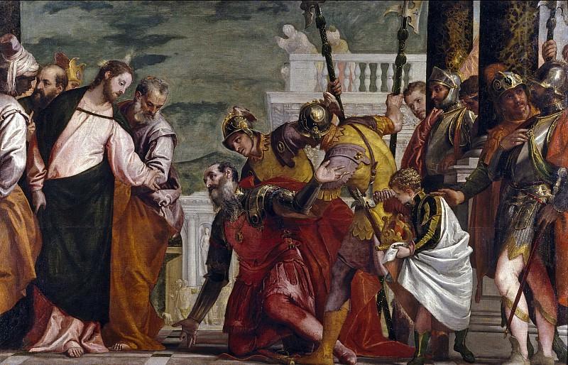 Veronese, Paolo -- Jesús y el centurión. Part 1 Prado museum
