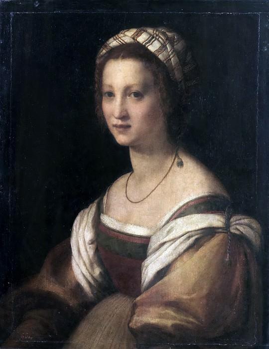 Sarto, Andrea del -- Retrato de mujer. Part 1 Prado museum