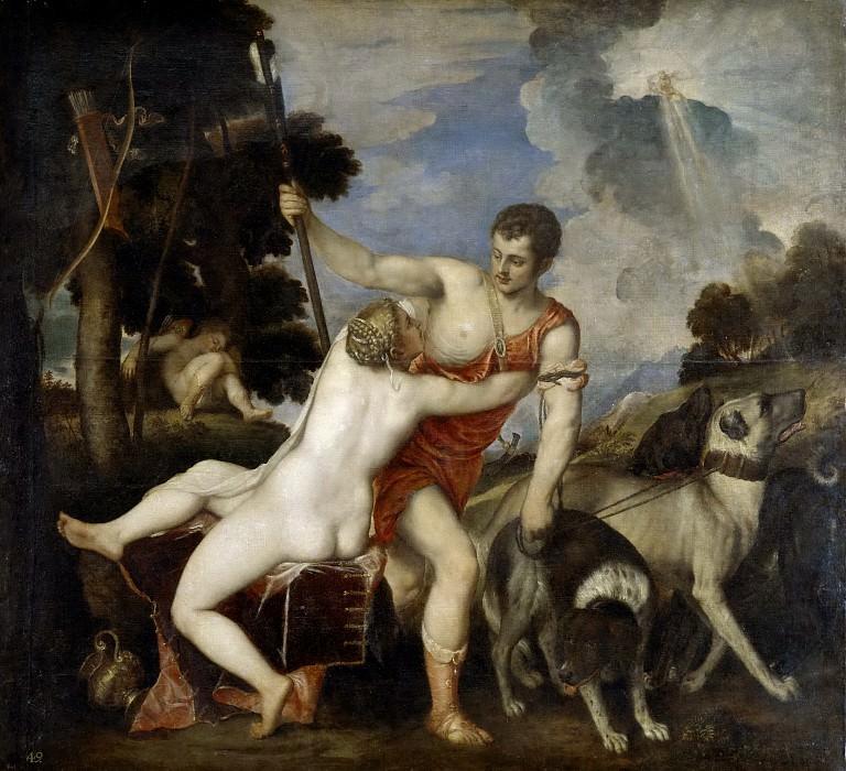Tiziano, Vecellio di Gregorio -- Venus y Adonis. Part 1 Prado museum