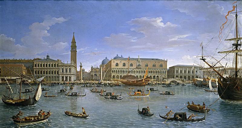 Vanvitelli, Gaspare -- Vista de Venecia desde San Giorgio. Part 1 Prado museum