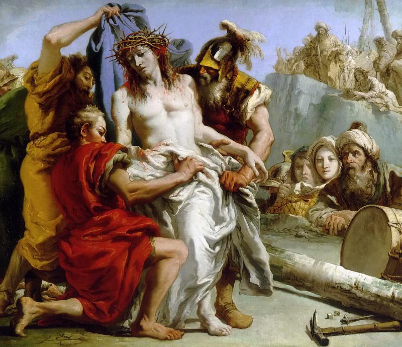 Tiepolo, Giandomenico -- El Expolio de Cristo. Part 1 Prado museum