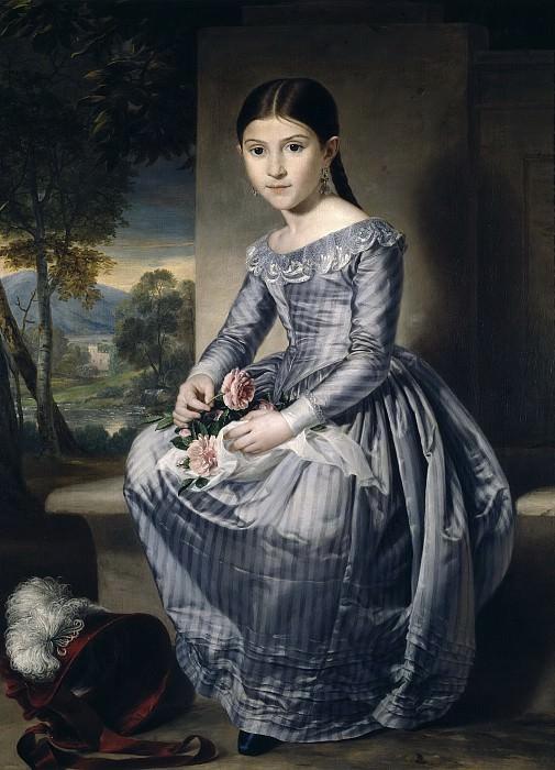 Tegeo Díaz, Rafael -- Niña sentada en un paisaje. Part 1 Prado museum