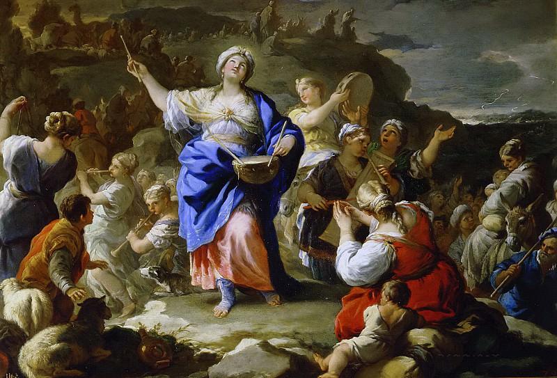 Giordano, Luca -- El cántico de la profetisa María. Part 1 Prado museum