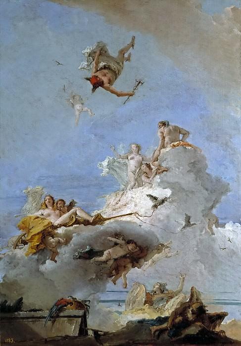 Тьеполо, Джованни Баттиста -- Олимп, или Триумф Венеры. Часть 1 Музей Прадо