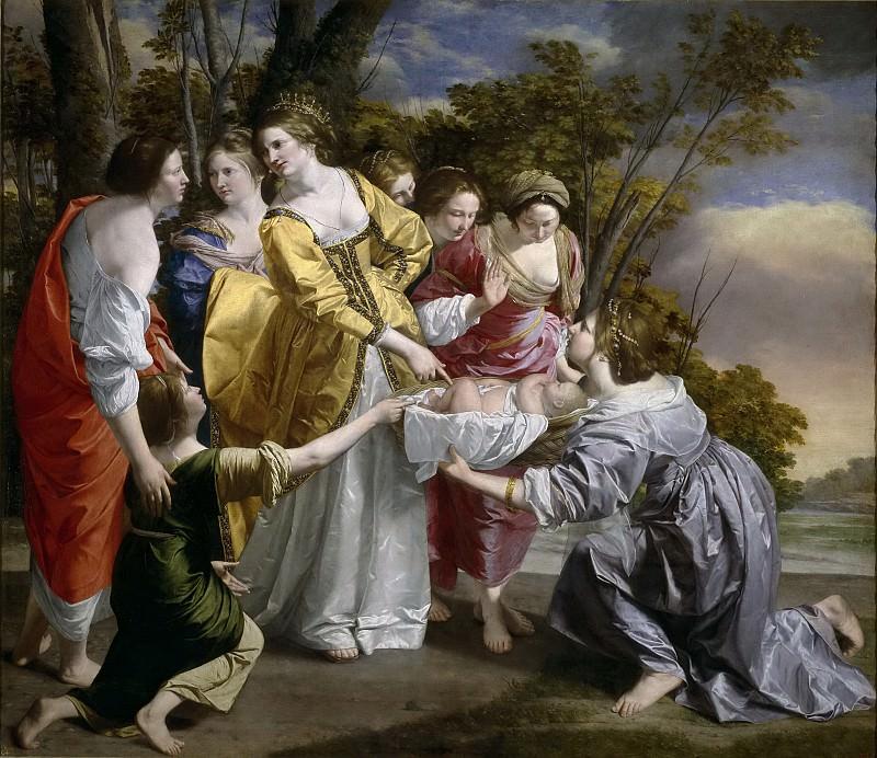 Gentileschi, Orazio Lomi de -- Moisés salvado de las aguas. Part 1 Prado museum