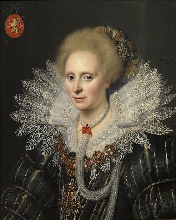 Mierevelt, Michiel Janszoon van -- Retrato de una señora de la familia Van Beijeren van Schagen (¿Theodora van Duvenvoorde?). Part 1 Prado museum