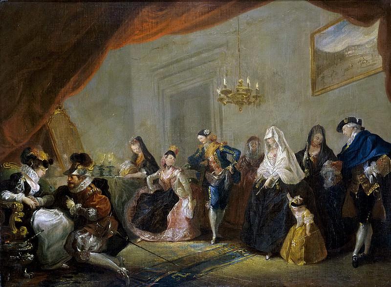 Paret y Alcázar, Luis -- Ensayo de una comedia. Part 1 Prado museum
