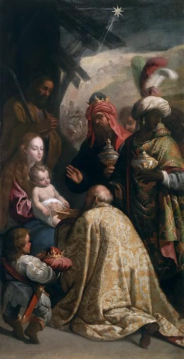 Cajés, Eugenio -- La Adoración de los Reyes Magos. Part 1 Prado museum