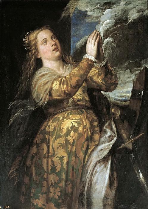 Santa Catalina (Atribuido a). Titian (Tiziano Vecellio)