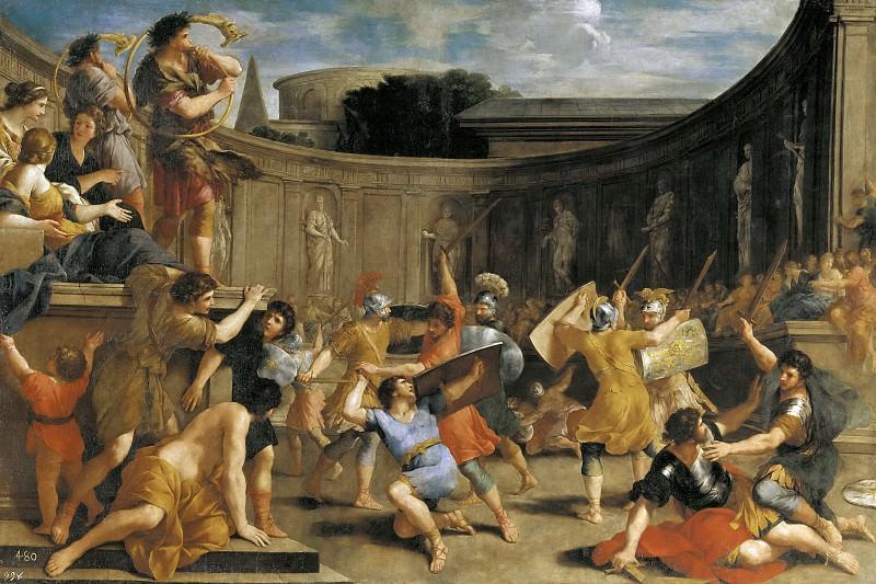 Romanelli, Giovanni Francesco -- Gladiadores romanos. Part 1 Prado museum