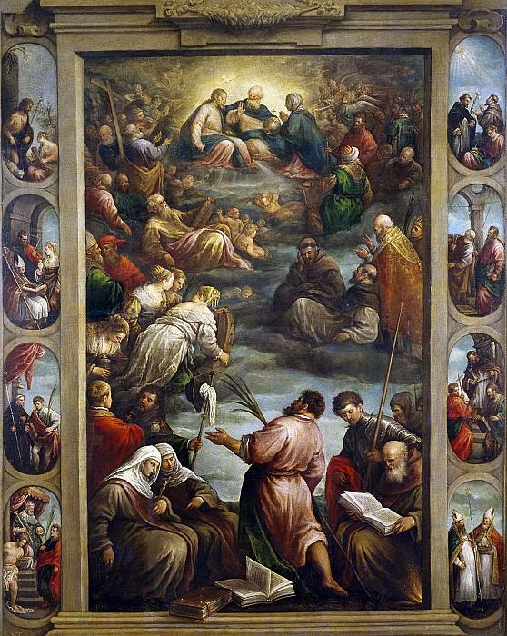 Бассано, Франческо -- Дева Мария в Царстве Небесном. Часть 1 Музей Прадо