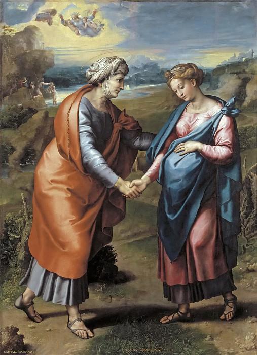 Встреча Марии и Елизаветы (и мастерская). Рафаэль Санти