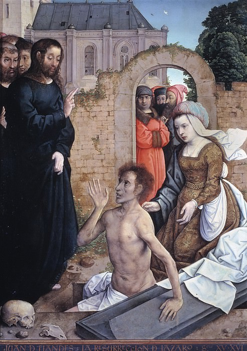 Хуан Фландрский -- Воскрешение Лазаря. Часть 1 Музей Прадо