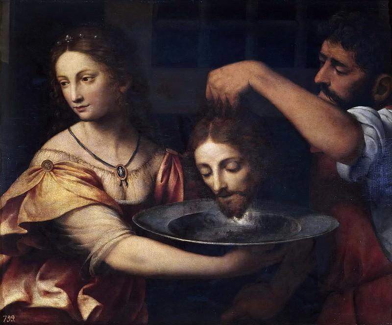 Luini, Bernardino -- Salomé recibiendo la cabeza del Bautista. Part 1 Prado museum