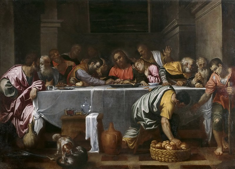 Carracci, Agostino -- La Última Cena. Part 1 Prado museum