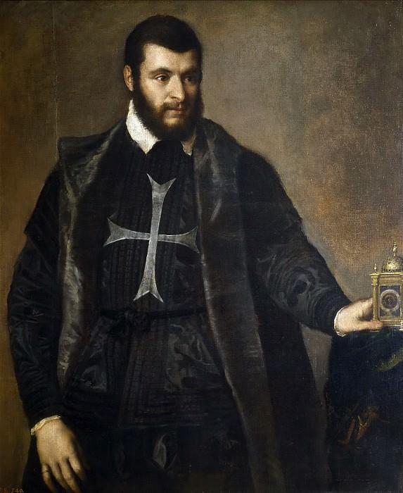 El caballero del reloj. Titian (Tiziano Vecellio)