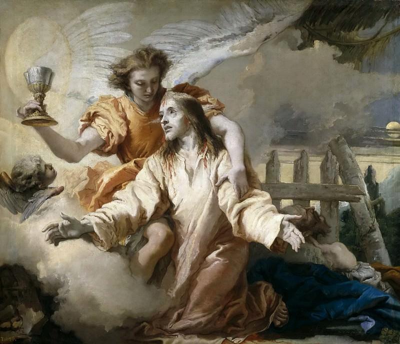Tiepolo, Giandomenico -- La Oración en el Huerto. Part 1 Prado museum