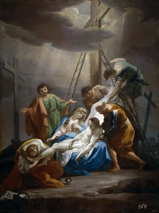 Giaquinto, Corrado -- El Descendimiento. Part 1 Prado museum