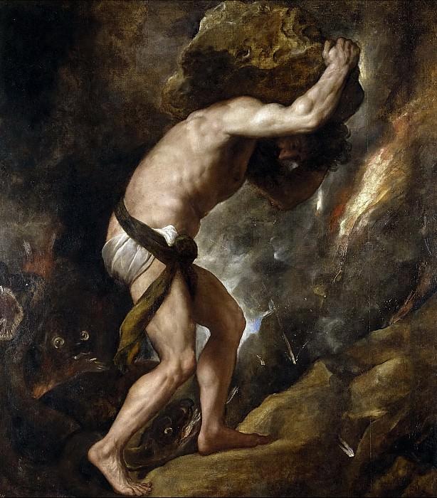 Sísifo. Titian (Tiziano Vecellio)