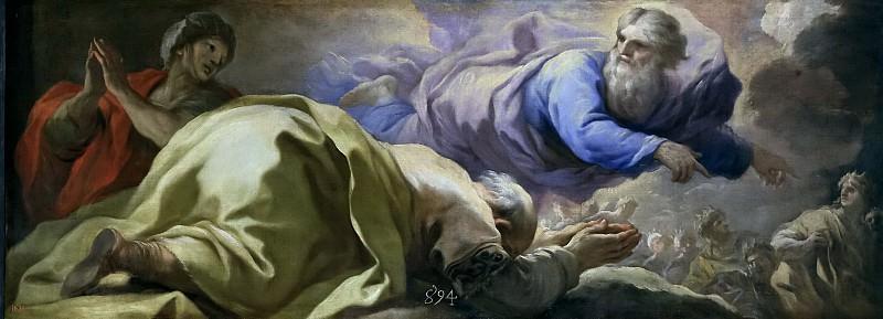 Giordano, Luca -- Abraham escucha las promesas del Señor. Part 1 Prado museum