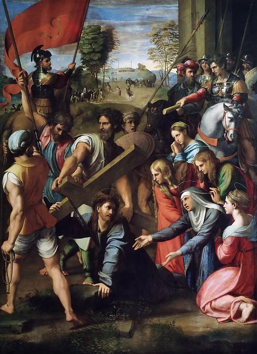 Christ Falling on the Way to Calvary. Raffaello Sanzio da Urbino) Raphael (Raffaello Santi