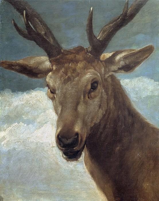 Velázquez, Diego Rodríguez de Silva y -- Cabeza de venado. Part 1 Prado museum