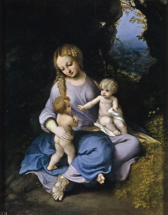 Correggio -- La Virgen, el Niño y San Juan. Part 1 Prado museum