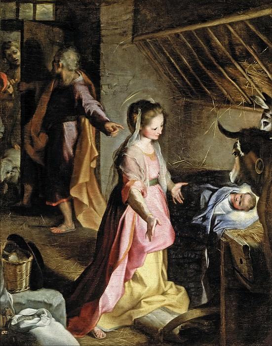 Barocci, Federico -- El Nacimiento. Part 1 Prado museum