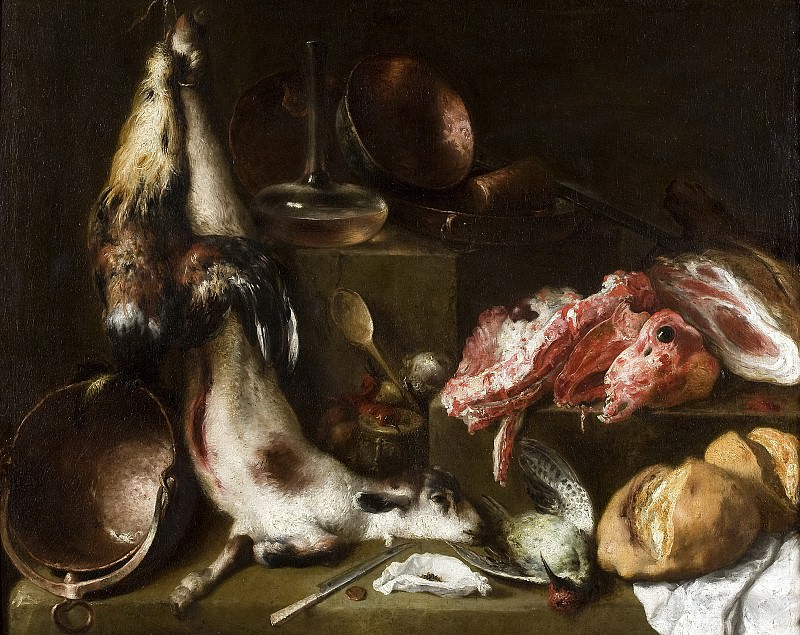 Cerezo, Mateo -- Bodegón de cocina. Part 1 Prado museum