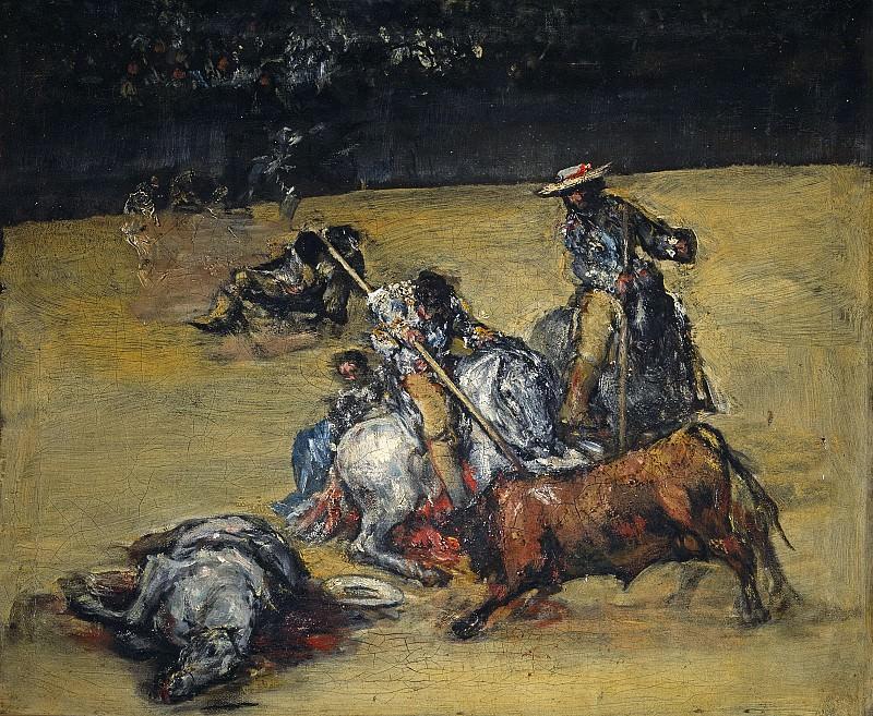 Anónimo (Seguidor de Goya y Lucientes, Francisco de) -- Corrida de toros. Part 1 Prado museum