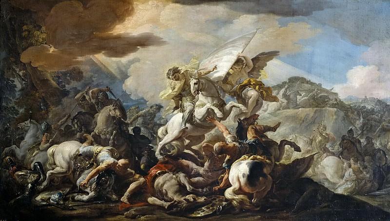 Giaquinto, Corrado -- La Batalla de Clavijo. Part 1 Prado museum