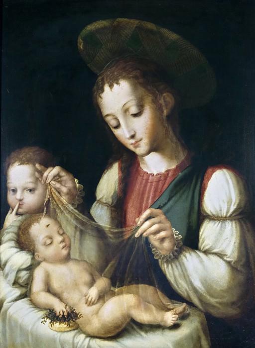 Моралес, Луис де -- Мадонна с младенцем и св Иоанном. Часть 1 Музей Прадо
