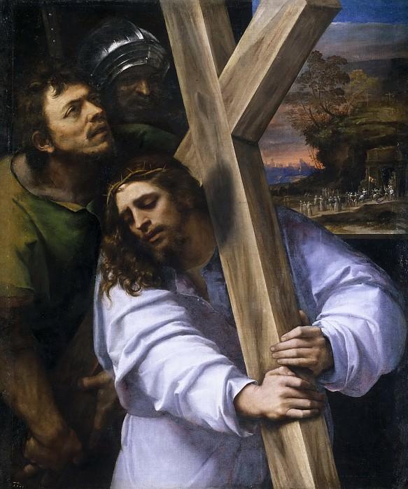 Piombo, Sebastiano del -- Jesús con la Cruz a cuestas. Part 1 Prado museum