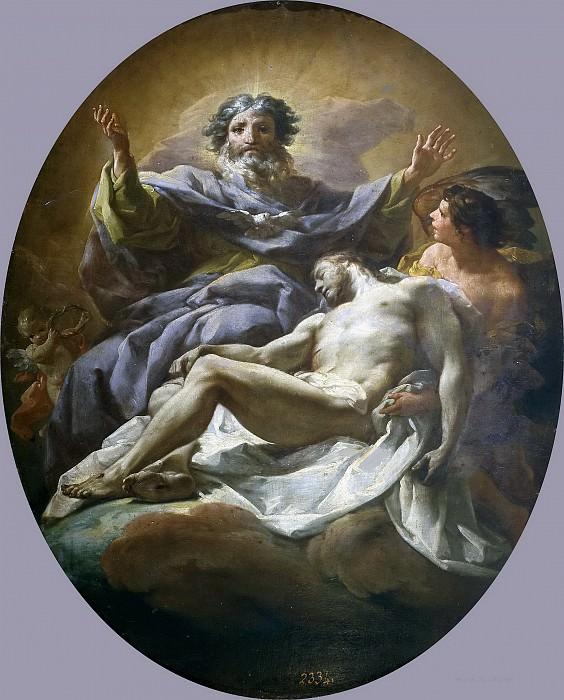 Giaquinto, Corrado -- La Trinidad. Part 1 Prado museum