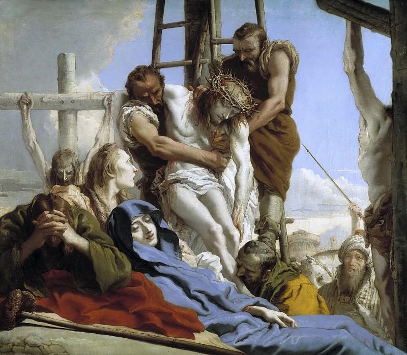 Tiepolo, Giandomenico -- El Descendimiento. Part 1 Prado museum