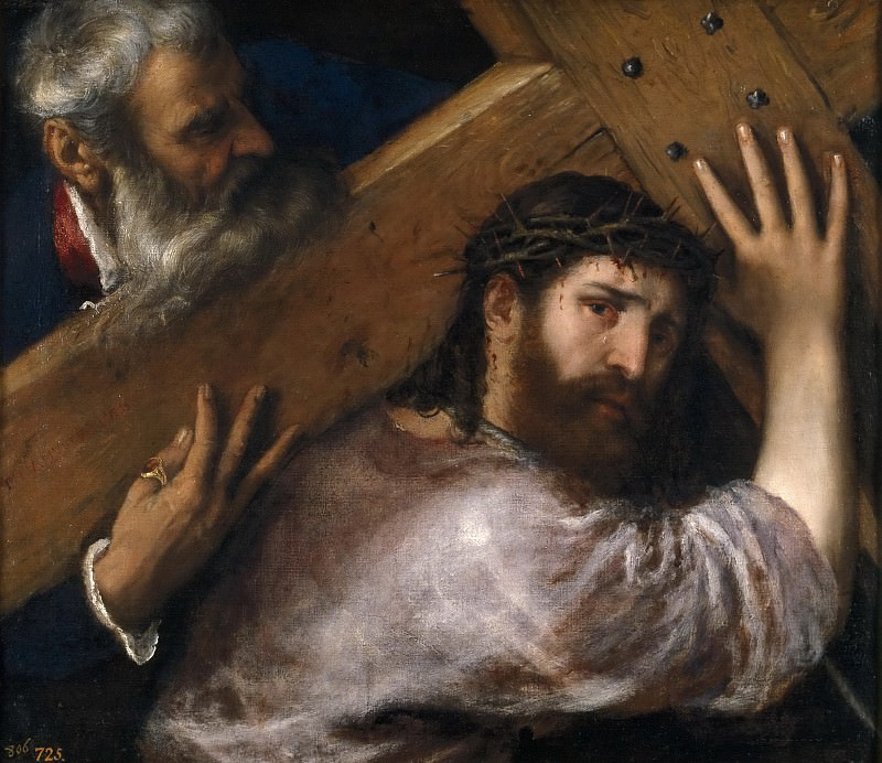 Cristo con la Cruz a cuestas. Titian (Tiziano Vecellio)
