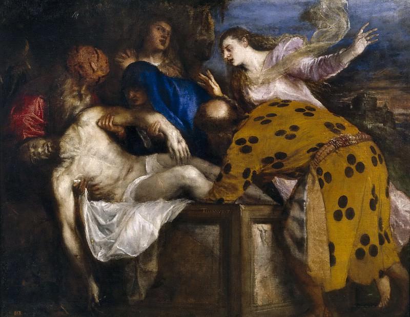 Entierro de Cristo. Titian (Tiziano Vecellio)