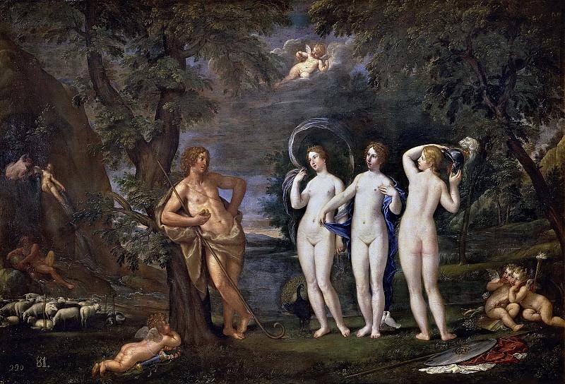 Albani, Francesco -- El juicio de Paris. Part 1 Prado museum