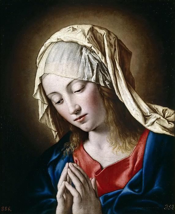 Sassoferrato -- La Virgen en meditación. Part 1 Prado museum