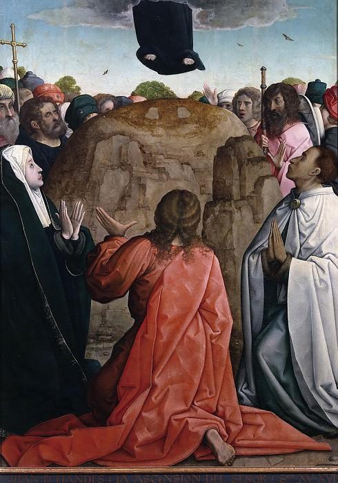 Flandes, Juan de -- La Ascensión del Señor. Part 1 Prado museum